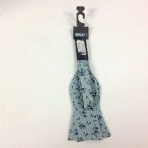 New Tommy Hilfiger E8 Men's Floral Blue BowTie